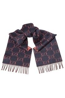 Контрастный шарф с монограммой Gucci