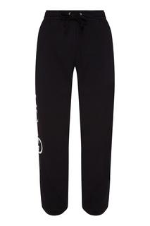 Черные брюки с логотипом Gucci