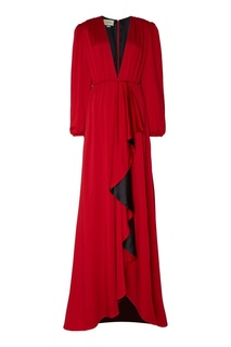 Красное платье макси Gucci