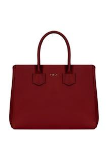 Кожаная красная сумка Furla