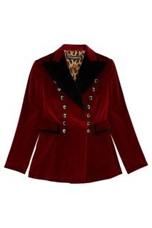 Бархатный жакет с аппликацией Dolce & Gabbana