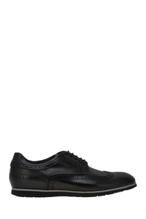 Кожаные туфли с перфорацией Hugo Boss