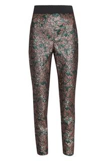Жаккардовые брюки с растительным узором Dolce & Gabbana
