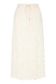 Белая хлопковая юбка Laroom