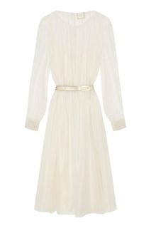 Белое шелковое платье The Dress