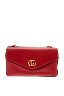 Красная кожаная сумка Gucci