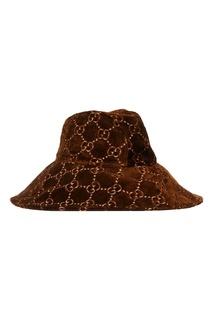 Вельветовая шляпа с монограммой Gucci