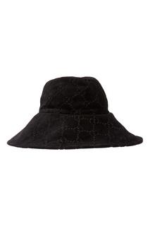 Черная шляпа с монограммами Gucci