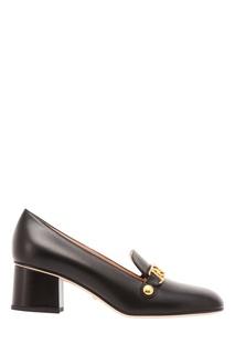 Туфли с золотистой отделкой Gucci