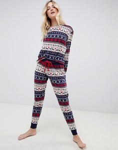 Пижамный комплект с узором Фэйр-Айл Chelsea Peers - Мульти