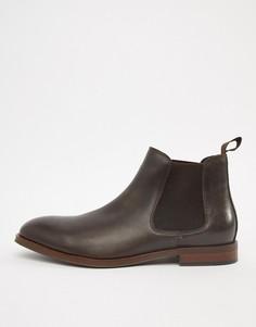 Кожаные ботинки челси шоколадного цвета Office Imbark - Коричневый