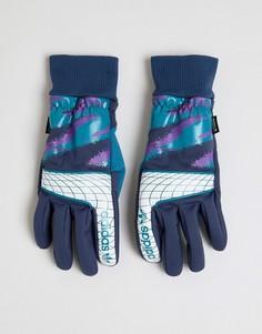 Синие перчатки Adidas Skateboarding Goalie DH{[#0:D1 - Синий