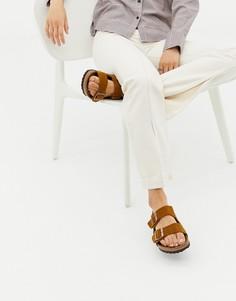 Замшевые сандалии Birkenstock Arizona - Коричневый