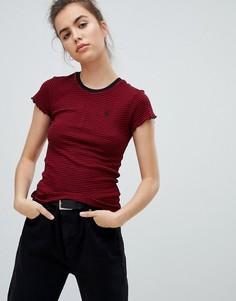 Красная футболка в полоску Volcom - Красный
