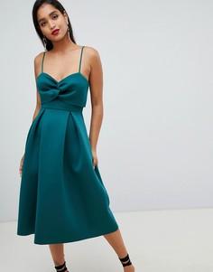 Платье миди для выпускного с кроп-топом ASOS DESIGN - Зеленый