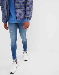 Синие облегающие джинсы Dr Denim Kissy - Синий