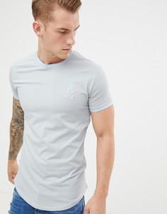 Серая футболка Gym King ringer - Серый