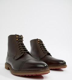 Коричневые кожаные ботинки на шнуровке ASOS DESIGN - Коричневый