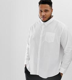 Оксфордская рубашка с длинными рукавами Jacamo Plus - Белый