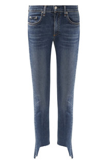 Укороченные джинсы-скинни с потертостями Rag&Bone