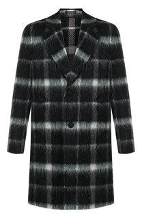 Однобортное пальто из шерсти Emporio Armani