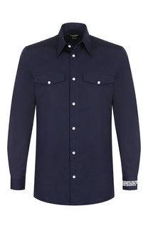 Хлопковая рубашка с принтом CALVIN KLEIN 205W39NYC