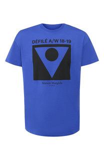 Хлопковая футболка с принтом Maison Margiela