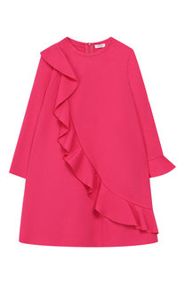 Мини-платье А-силуэта с оборкой Il Gufo