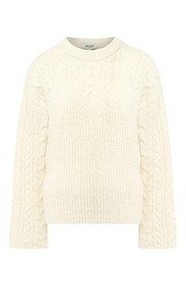 Шерстяной пуловер фактурной вязки Kenzo