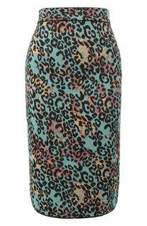 Вязаная юбка-миди с принтом и металлизированной нитью M Missoni