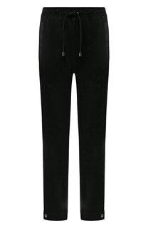 Кожаные брюки с отворотами Emporio Armani