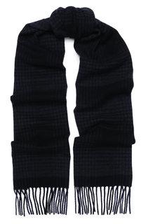 Шерстяной шарф с бахромой Eton