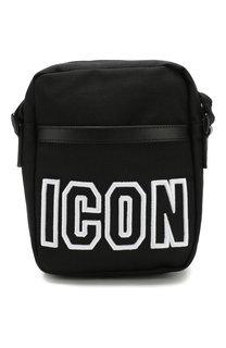 Текстильная сумка-планшет Icon на молнии Dsquared2