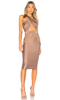 Миди платье с перекрестными шлейками спереди philip - Michael Costello