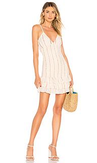 Жатое мини платье jean - Tularosa