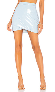 Асимметричная виниловая юбка helen - by the way.