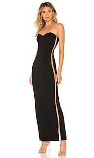 Вечернее платье без бретелек jerome - NBD