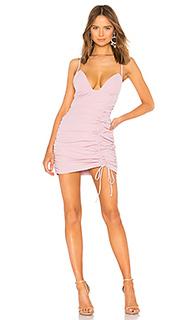 Мини платье с рюшами delaney - NBD