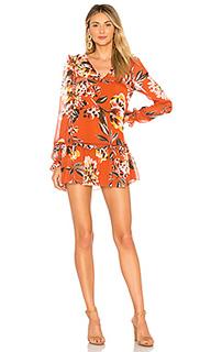 Мини-платье с длинным рукавом lara - Tularosa