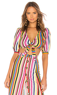 Блуза с завязкой спереди tie front - LPA