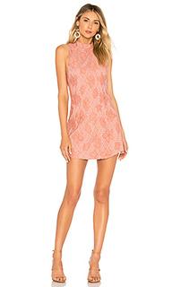 Мини платье без рукавов hibiscus - NBD