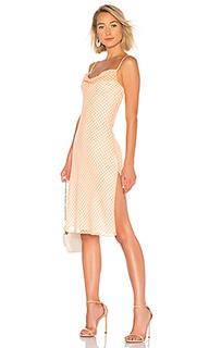 Миди-платье с воротником-хомутом cowl - LPA