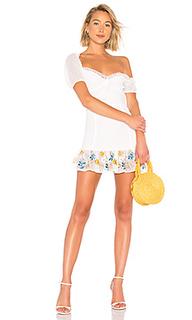 Миди платье с оборками teddy - House of Harlow 1960