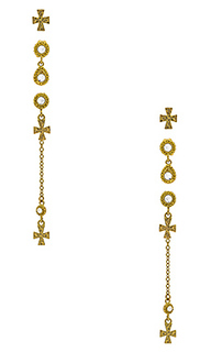 Набор серьг moroccan dangle cross studs - Luv AJ
