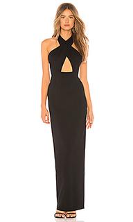 Вечернее платье с перекрестными шлейками спереди franck - NBD