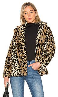 Леопардовое пальто kate faux fur - Free People