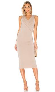 Платье faux wrap tank midi - Michael Stars