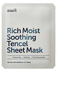 Тканевая маска rich moist soothing tencel sheet mask - Klairs