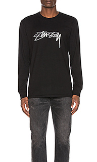 Футболка smooth stock l/s - Stussy
