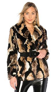 Пальто из искусственного меха colton - MAJORELLE